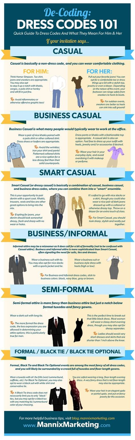 dress codes  guide