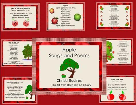 apple songs preschool apple songs and poems pdf file a week 239