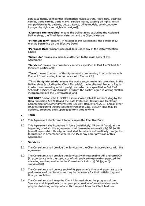 Consultancy agreement (standard) - Docular