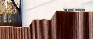 sichtschutz bzw sichtschutzelemente aus larchenholz With französischer balkon mit gartenzaun metall 180 cm hoch