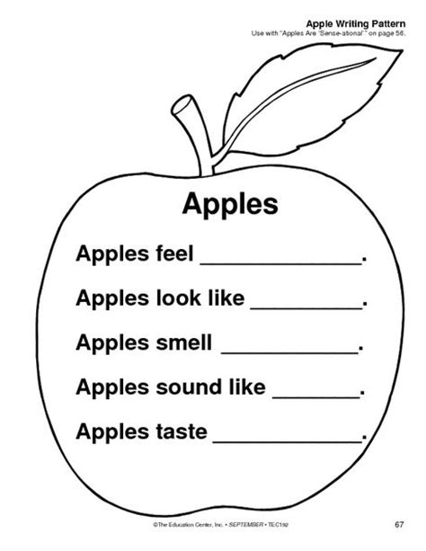 5 Senses Apple Observation  Kindergarten  Apples  Pinterest  Editorial, Magazines And Apples