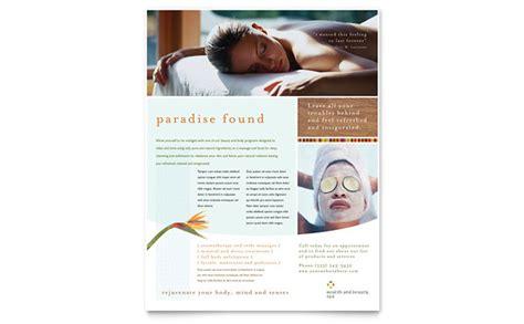 health beauty spa flyer template design