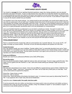download entertainment industry resume for free page 3 With entertainment industry resume