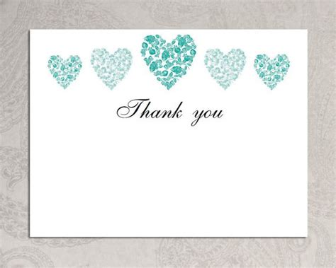 thank you template word items similar to thank you card template trio of hearts printable microsoft word