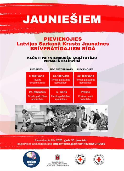 Drosme zināt: aicinām kļūt par Latvijas Sarkanā Krusta ...