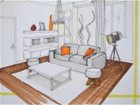dessin en perspective d une chambre déco appartement par mh deco