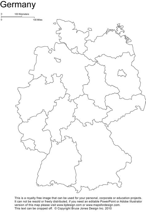 germany printable blank map, Berlin, europe, royalty free