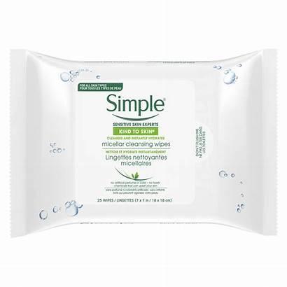 Simple Wipes Micellar Remover Makeup Skin Facial