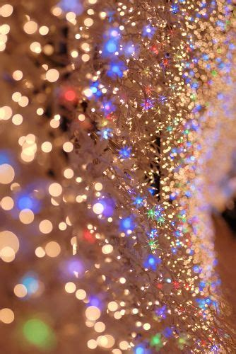 sparkly christmas lights glitter light led and dust on
