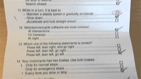 Dmv Motorcycle Written Test August 2014