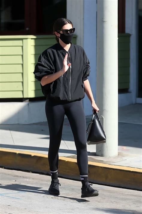 Sara Sampaio sports all-black as she arrives for a morning ...