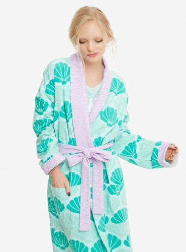 Stay Cozy Mermaid Style With The Ariel Shell Robe