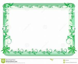 Vintage Floral Frame - Green Royalty Free Stock Photos ...