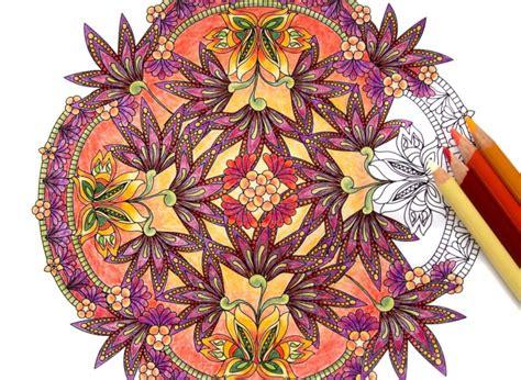 Coloring Flower Mandalas Coloring Book Preview