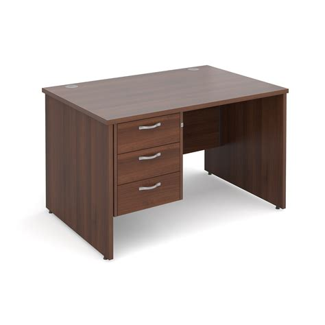 Maestro 25 Pl Straight Desk With 3 Drawer Pedestal 1200mm