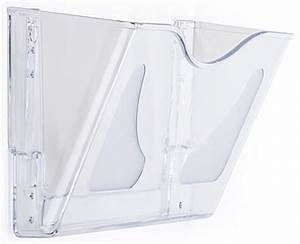 document holder w wall mount single pocket filing With clear plastic wall mounted document holder