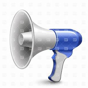 Megaphone Blue Loudspeaker, 5813, Objects, download ...