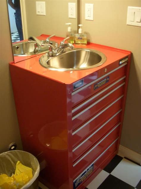 Metal Tool Box Turned Sink A Must Have In The Garage I