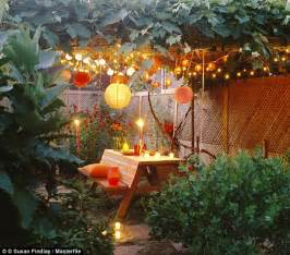 how to light a garden how to light the night this summer and create a truly magical garden daily mail online