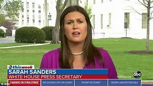 Huckabee Sanders says her posting of a Situation Room ...
