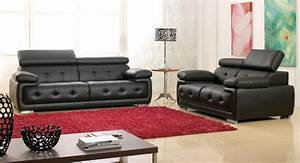 salon cuir noir design maison design wibliacom With salon cuir design