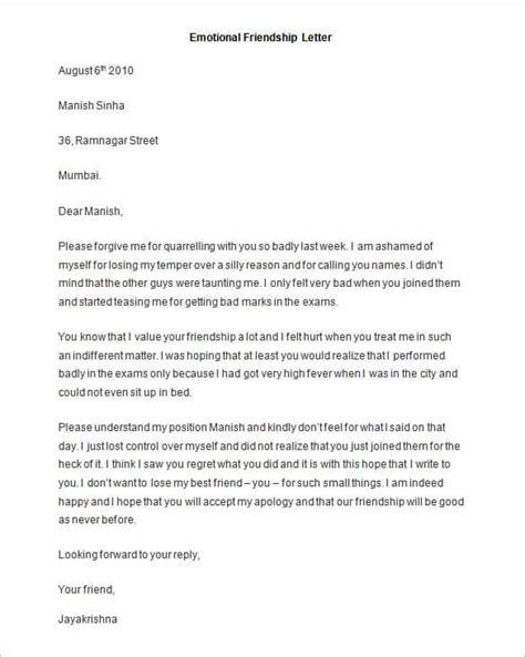 a letter to a best friend emotional 49 friendly letter templates pdf doc free premium