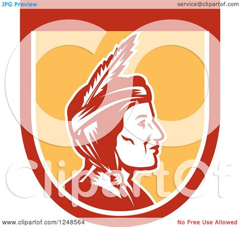 It can be used only for editorial purposes (such as news, magazines. Clipart of a Retro Native American Indian Woman in Profile ...