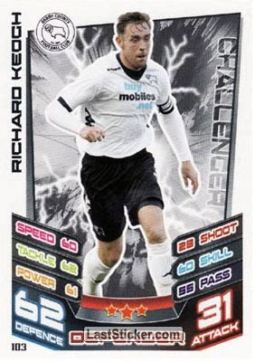 Card 103: Richard Keogh - Topps NPower Championship 2012 ...