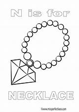 Coloring Necklace Printable Colouring Alphabet Fun Learning Learn sketch template