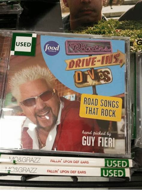 Guy Fieri Dank Memes - used oo road songs that rock hand picked by guy fieri am grazz falliiv uron def ears used grazz