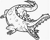 Colour Drawing Crocodiles Crocodile Coloring Pages Colours sketch template