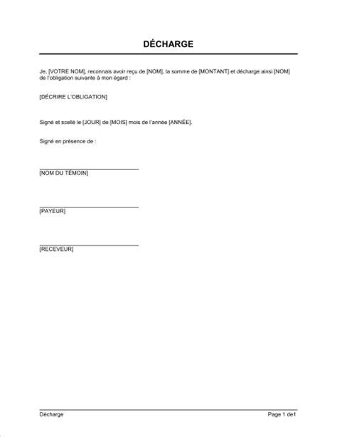 modèle de lettre pour remise de clés modele une lettre de decharge document