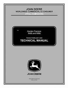 John Deere X495 X595 Garden Tractors Tm2024 Pdf Manual
