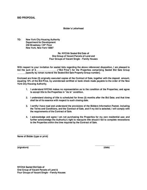 bid proposal templates proposal template