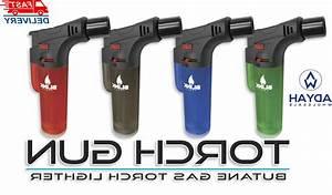 4 Pack Blink Butane Torch Lighter Gun Windpro