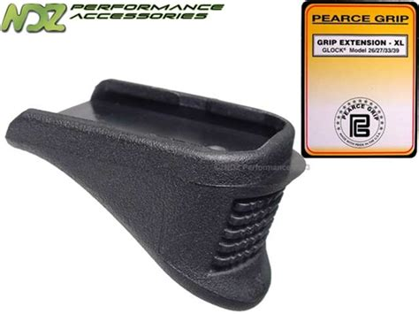 pearce grip glock 1 4 magazine floor base plate finger extension g26