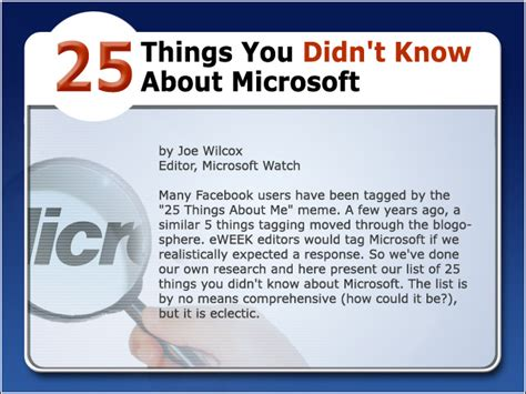 25 Things You Didn't Know About Microsoft  Windows News