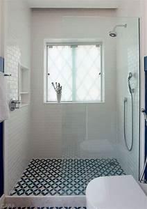 Des sols originaux pour la salle de bain cocon de for Carrelage salle de bain avec motif