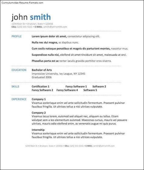 good resume templates word free sles exles