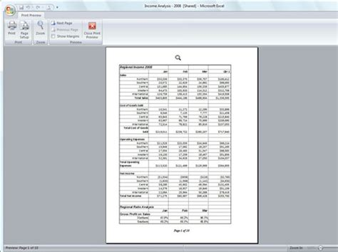 previewing pages  excel   print preview dummies