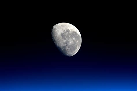 Moonset Viewed From The International Space Station Nasa