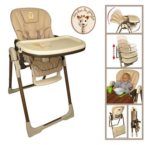 chaise haute la girafe chaise haute bébé vision la girafe 20 sur allobébé