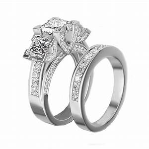 aliexpresscom buy rn3040 top fashion luxury three stone With 3 stone wedding ring sets