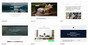 Examples of templates the brand builder toolbox with for Squarespace portfolio templates