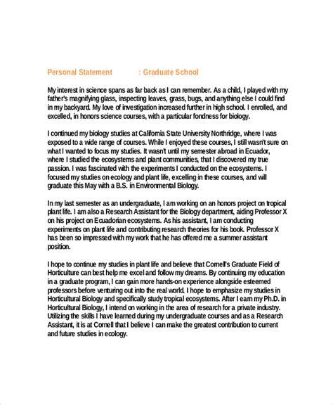 graduate school personal statement template business