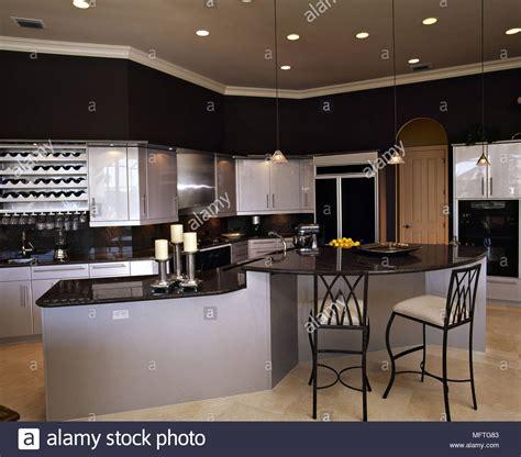 central island kitchen unit modern kitchen grey units black granite worktops central 5168