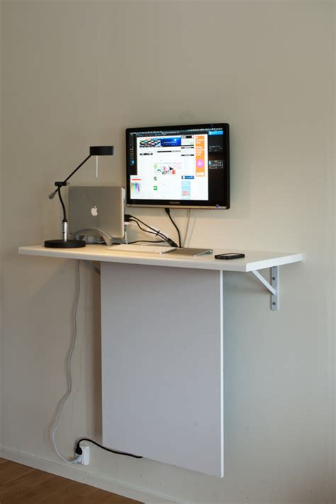 Wall Mounted Laptop Desk Ikea by Ikea Standing Computer Laptop Desk With Invisible Data