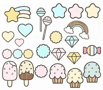 Things Kawaii Clip Scrapbook Stickers Clipart Drawings