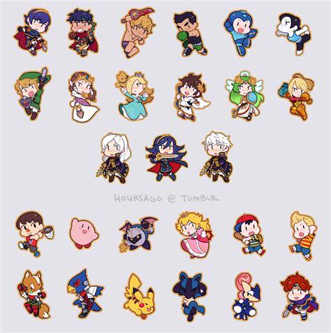 Smash Bros Chibis These Are So Cute Super Smash Bros