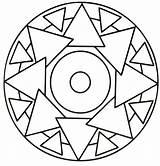Mandala Coloring Simple Triangle Mandalas Rocks Printable Sheets Colouring Nemo Football Colorear Para sketch template